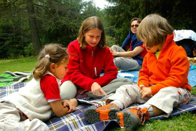 Guided hikes with children