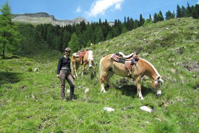 Guided half-day trail ride from the Bacherhof