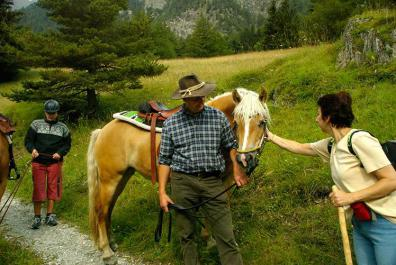 Guided trail rides with host, Rudolf