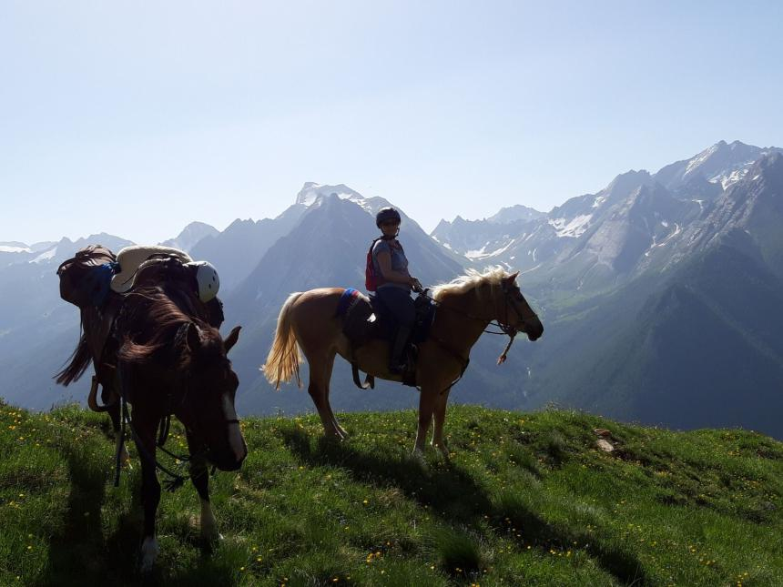 Riding days for people returning to horseback riding after a long hiatus