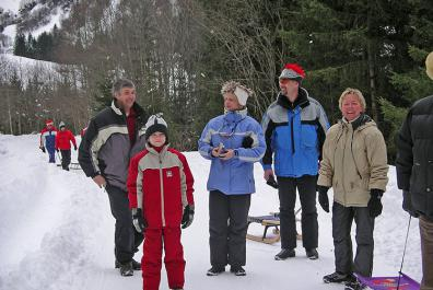 Guided guest hike in winter