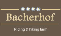 Bacher Farm with riding stables in Pfitsch